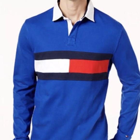 43448d69 Tommy Hilfiger Shirts | Rugby Shirt Long Sleeve Mens | Poshmark